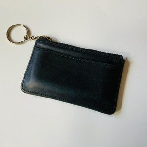 Coach Black Zipped Card Case And Key Ring Vintage